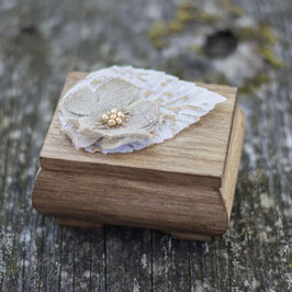 Winter Wooden Ring Box