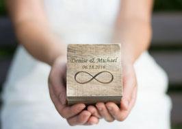 Ringschatulle Hochzeit Ring Box Kasten Infinity box Square
