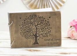 Gästebuch Hochzeit Wedding tree Vögel
