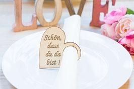 Schön dass du da bist Serviettenringe Hochzeit