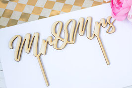 Cake Topper Mr Mrs Hochzeit Tortenaufsteller