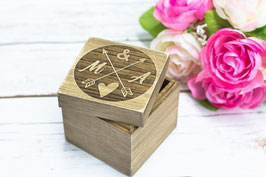 Ringträger Holz Herzchen