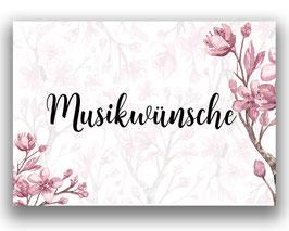 Musikwünsche A7 DIN  x50 rosa