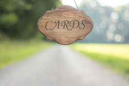 Wedding Cards sign Rustic Cards Banner Wooden Cards Sign for Card box