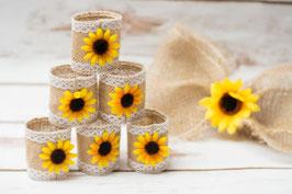 Sonnenblumen Serviettenringe Hochzeit Servietten