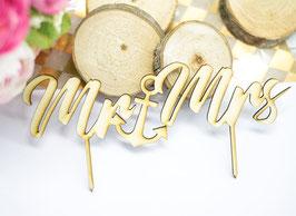 Cake Topper Mr Mrs Hochzeit Tortenaufsteller Anker