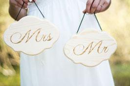 Mr Mrs Schild Hochzeitsdeko