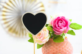 Heart Standing Chalkboard Table Number Stand Border
