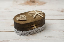 Nautical Lace Ring Box Oval