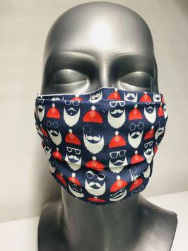 X-MAS Collection! Mund-Nasen-Maske für Erwachsene aus Baumwolle & TENCEL