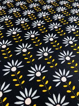 Baumwolle Blumen/Blau-Gelb