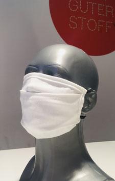 Mund-Nasen-Maske für Erwachsene, uni, mit Ohrengummis