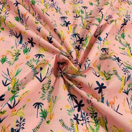 "Baumwolle ""Flamingo Palm"" Pink"