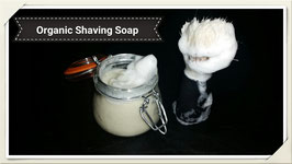 Organic Shaving Soap With Bentonite Set in jar with hinge Lid for Men or Women with Brush 5.5oz