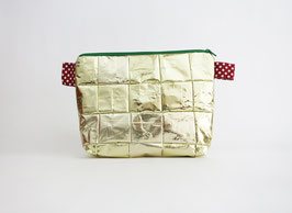 Golden Cosmetic Bag