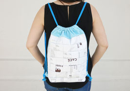 White and Turquoise Gym Bag