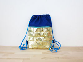 Gold and Blue Gym Bag