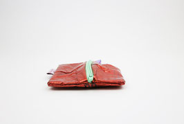 Red, recycled Zipper Pouch