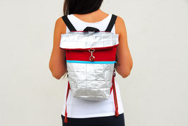 Red and Silver Backpack