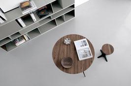 Tisch SPILLO rund Nussbaum