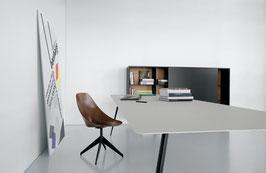 Tisch SPILLO leinen/schwarz