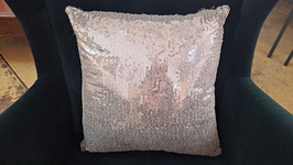 NEW Silver Sequin Cushion