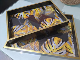 BRAND NEW Gold & Silver Monsteria Leaf Trays - 2 Sizes