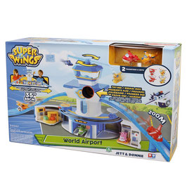 Super Wings Set Gioco Torre di Controllo con Luci e Suoni con Personaggi Jett e Donnie