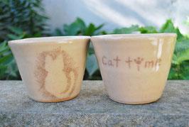 ねこのカップ 2個