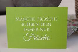 """Wunderwort Postkarte """" Frösche"""""""
