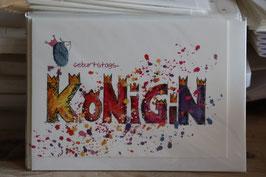 "KRaejen Doppelkarte "" KÖNIGIN"""