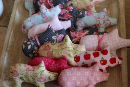 Glücksschweinchen handgenäht/ farblich sortiert