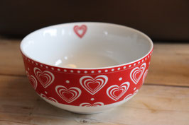 "Krasilnikoff Happy Bowl ""Rot Herzen"""