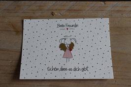 """Postkarte """" Schön , dass es dich gibt Beste Freundin """""""