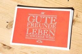 "Postkarte "" Gute Freunde """