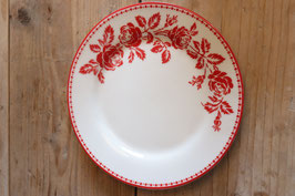 GreenGate Plate Fleur red