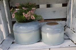 Keramik Topf blau lasiert