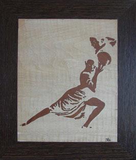 Danseurs de tango - impression en négatif