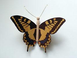 """Papillon """"Machaon"""" - Une face marquetée (4 couleurs) - décoration à suspendre"""