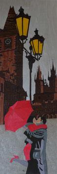 Les amoureux au parapluie