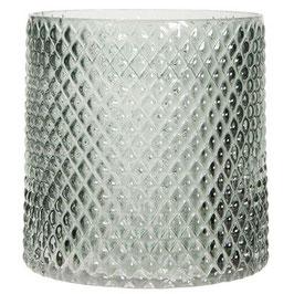 Windlicht Glas dunkelgrau