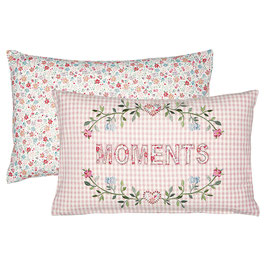 Cushion Moments pale pink embroidery(Vorbestellung/Lieferung ab KW12/2021