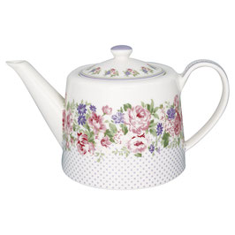 Teapot Rose white