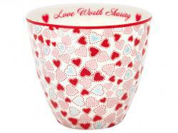 Latte Cup Love white