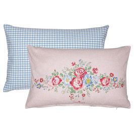 Cushion Henrietta pale pink piece printed