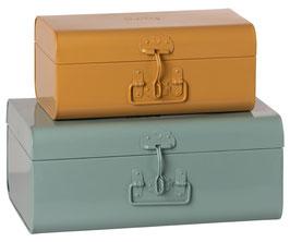 Storage Suitcase Set of2 mint&yellow(Vorbestellung Lieferung ab  Mitte /Ende Mai 2021)