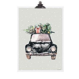 Poster  Christmas Car
