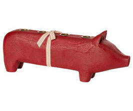 Wooden Pig Large red 2020