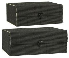 Schachtelsatz Bambus schwarz 2er Set