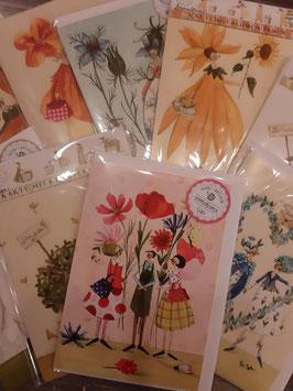 Karten mit Blumensameninhalt